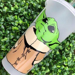 Custom baby yoda Starbucks cup